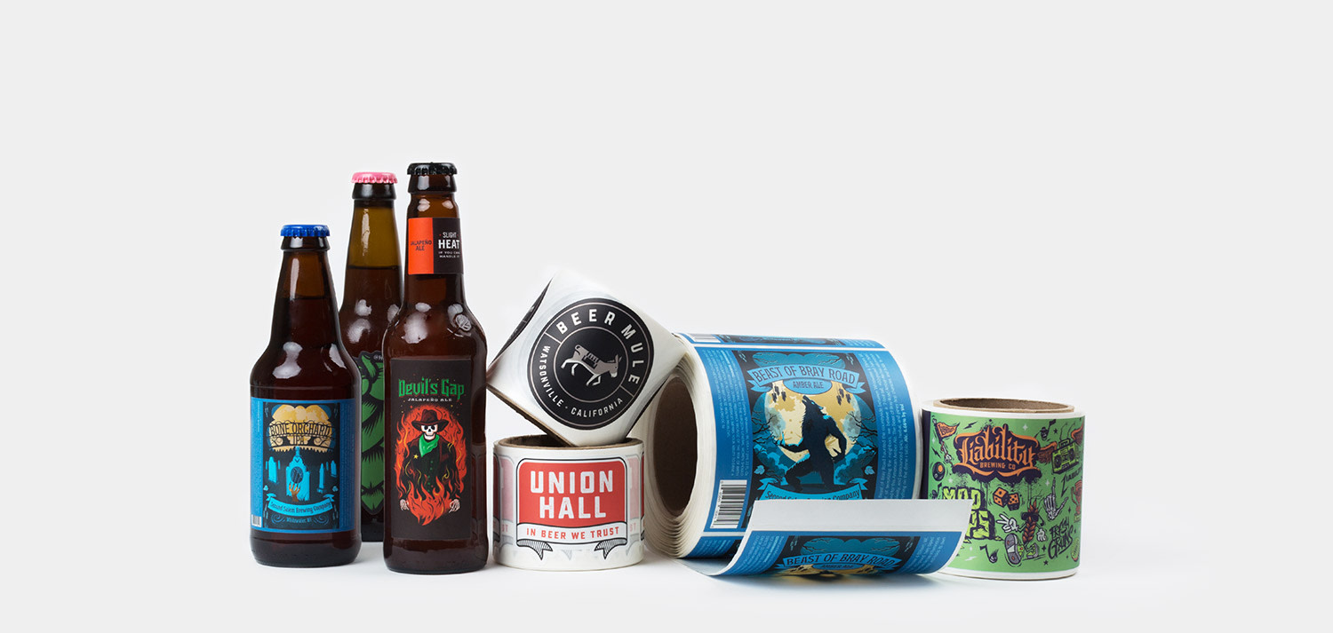 Beer labels by Sticker Mule