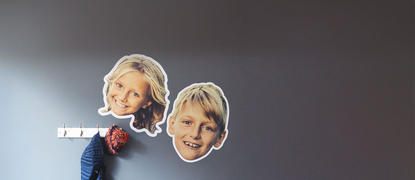 Face wall decals