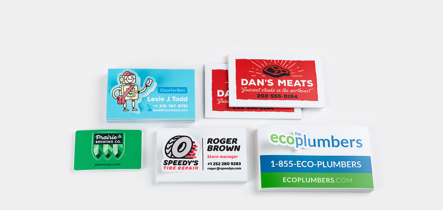 Business card stickers  by Sticker Mule