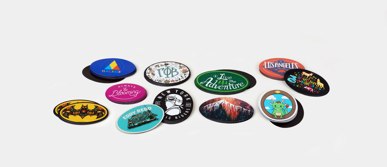 Oval magnets by Sticker Mule