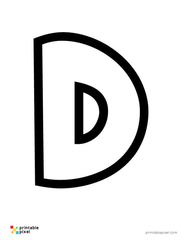 Bubble Letter D