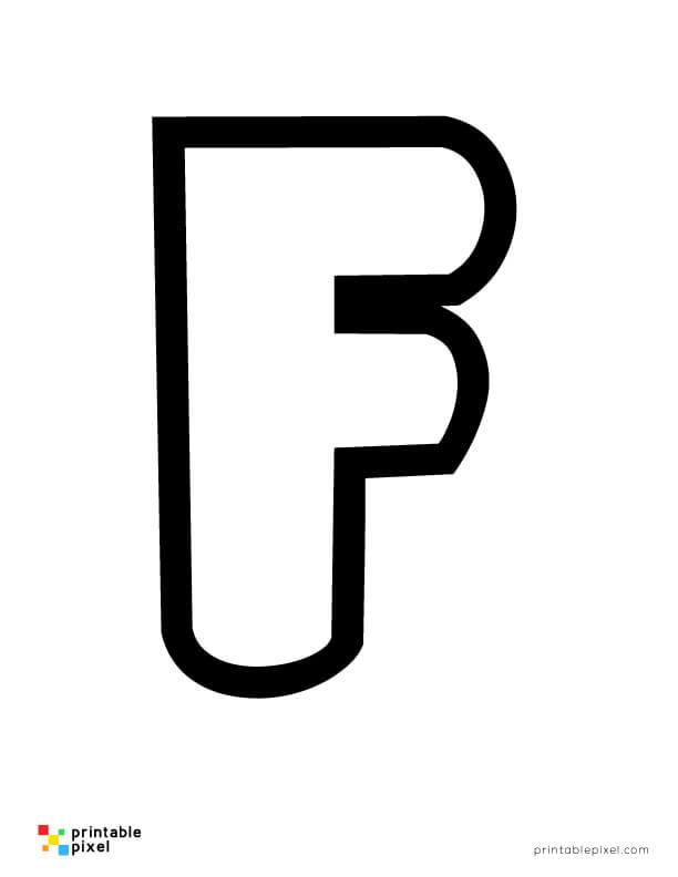 Bubble Letter F