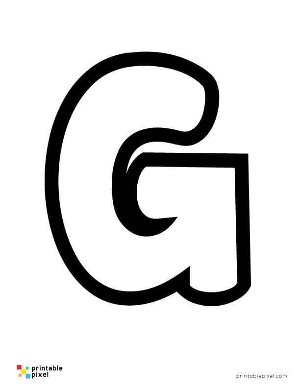 Bubble Letter G