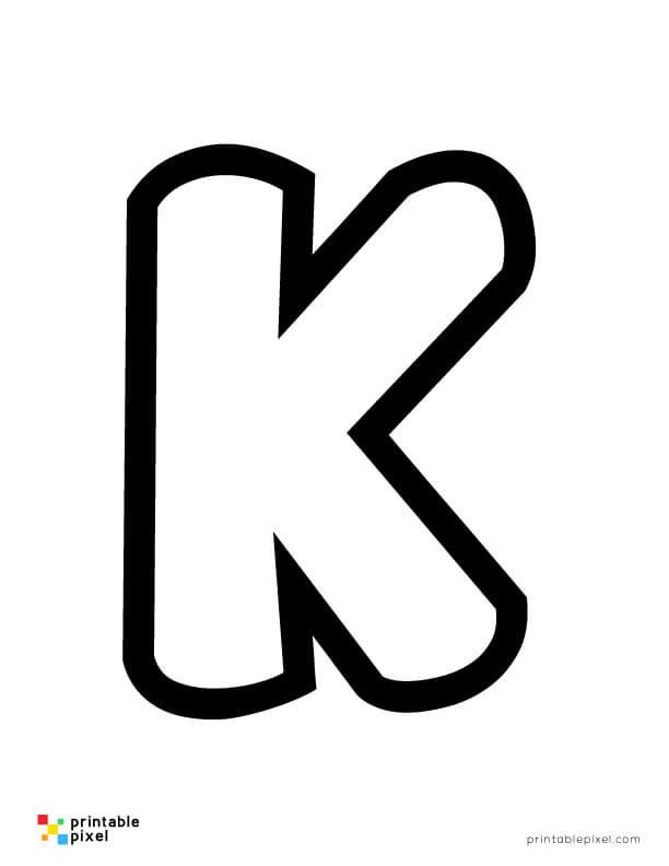 Bubble Letter K