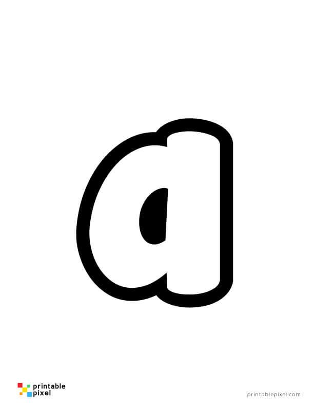 Bubble Letter Lowercase A