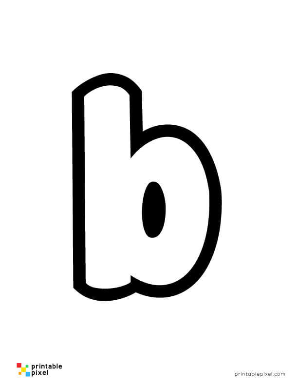 Bubble Letter Lowercase B