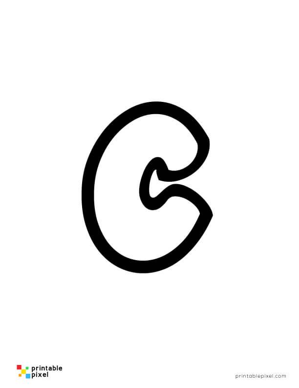 Bubble Letter Lowercase C