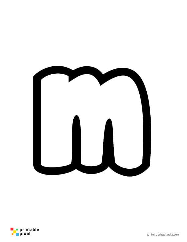 Bubble Letter Lowercase M