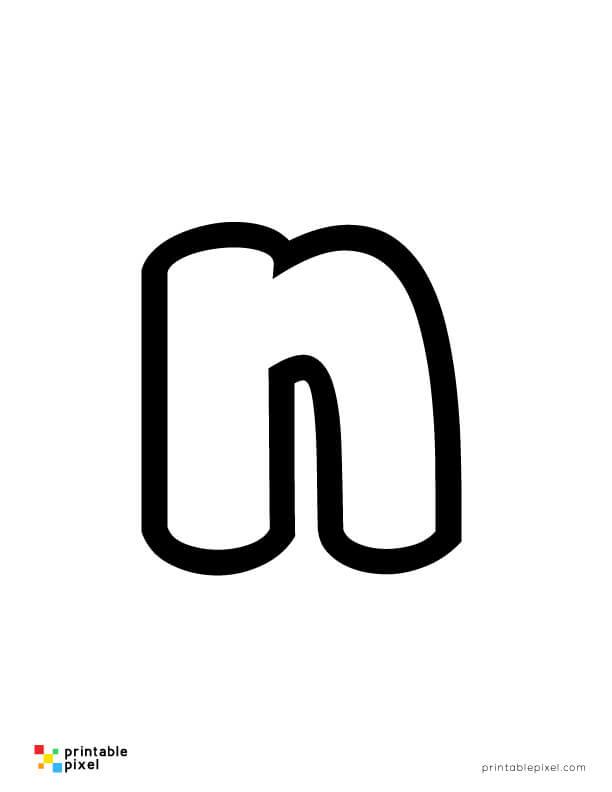 Bubble Letter Lowercase N