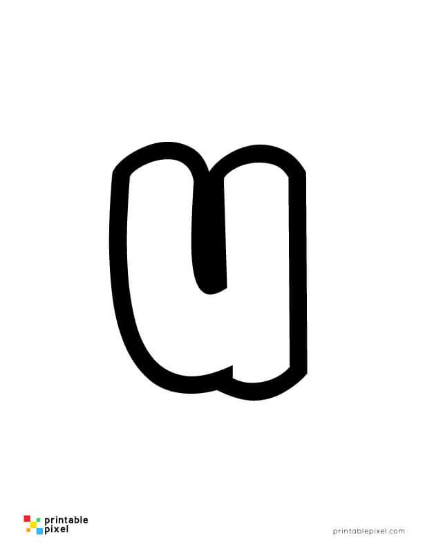 Bubble Letter Lowercase U