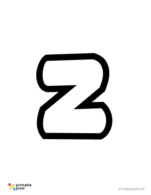 Bubble Letter Lowercase Z