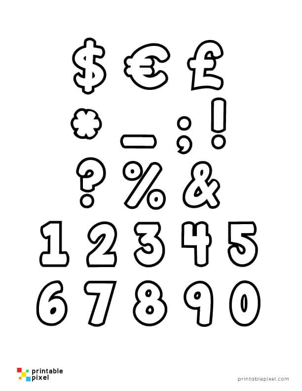 Bubble Numbers Set