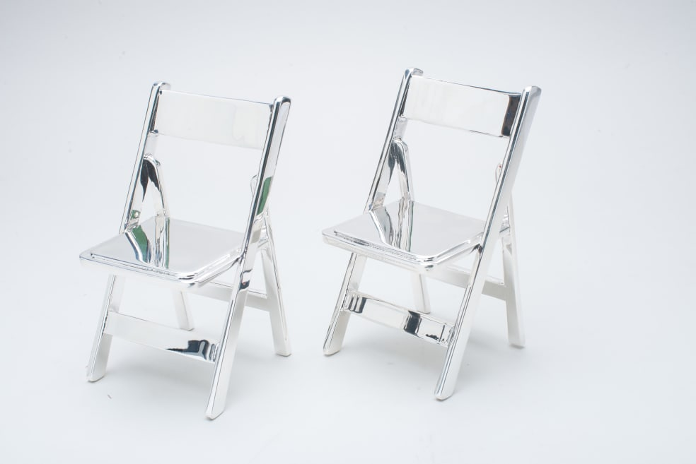 Metal plated chairs