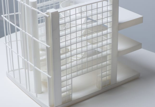 3D Printed architectural model top