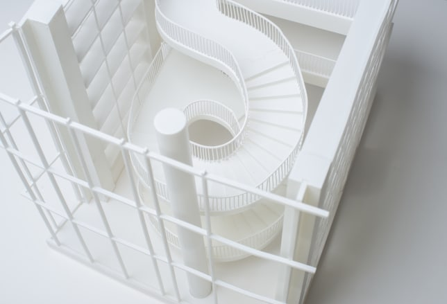 3D Printed architectural model top view