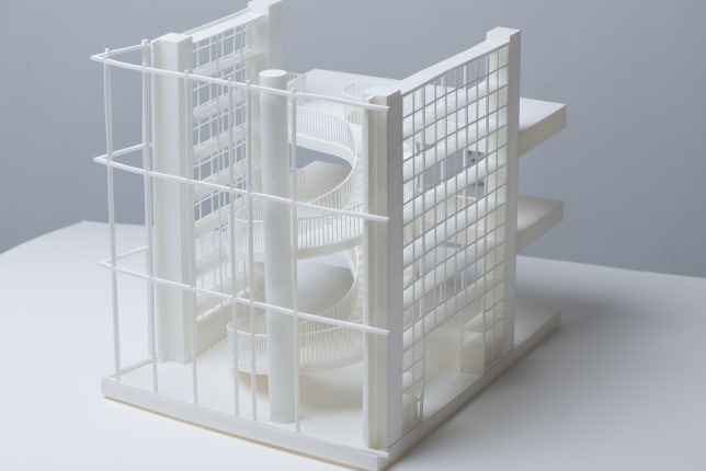 3D Printed architectural model sideways