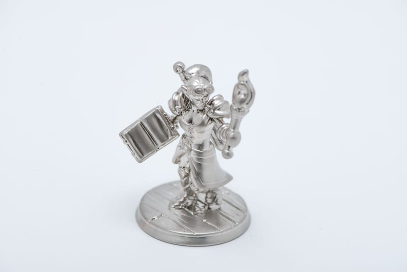 Minature figurine silver 3