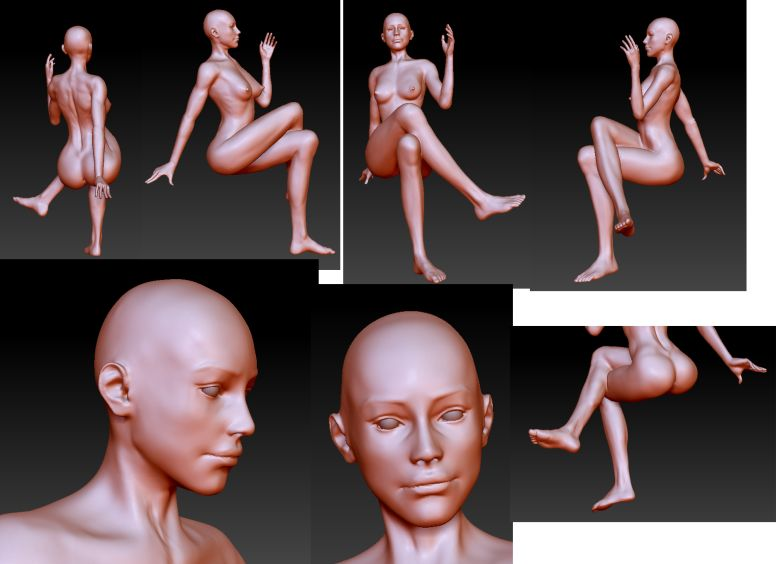 3d modeling of nude sketch