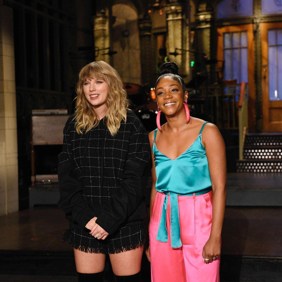 Taylor Swift and Tiffany Haddish SNL