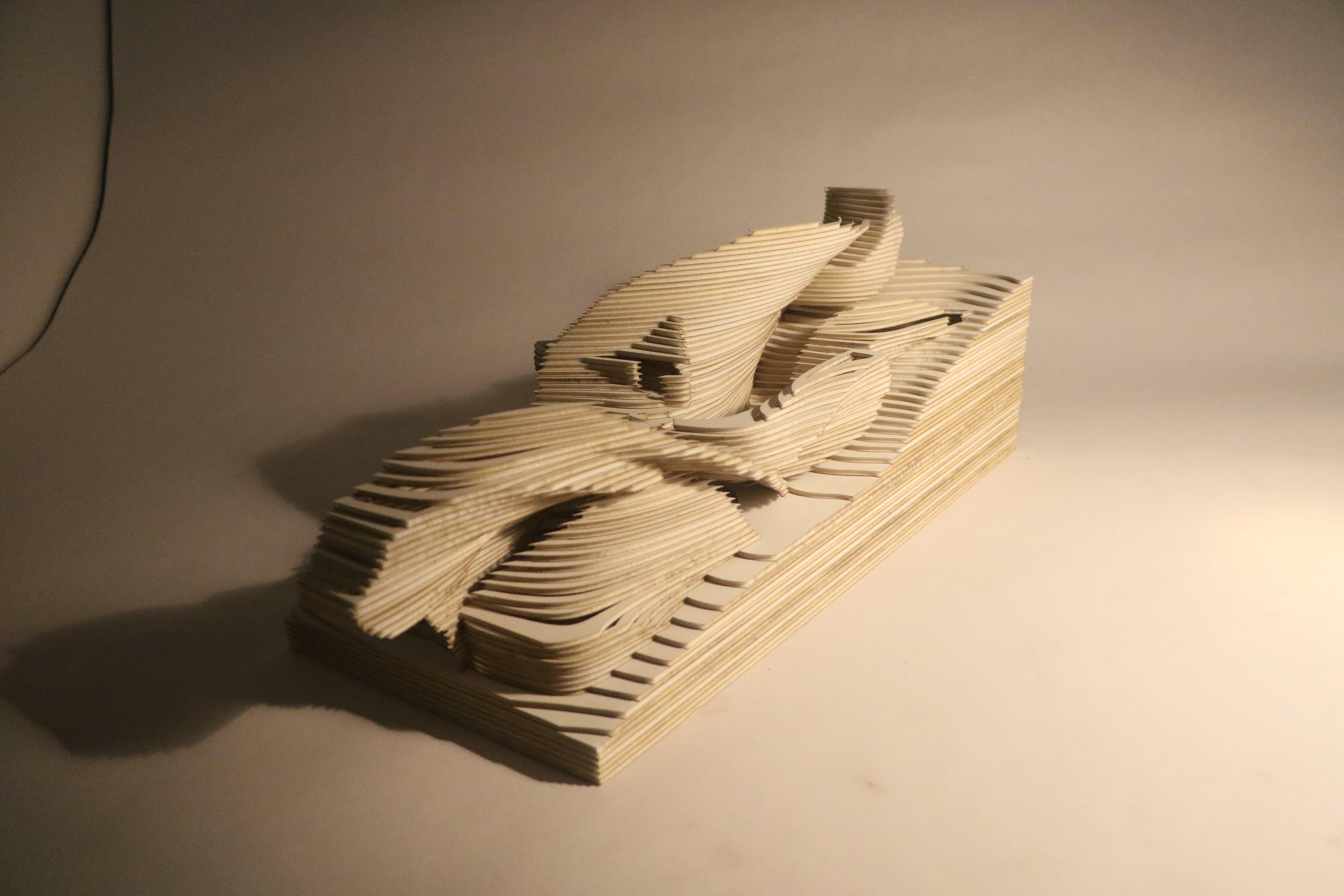 Architectural model of a kindergaten room