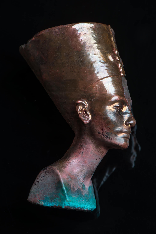 Metal plated egyptian model