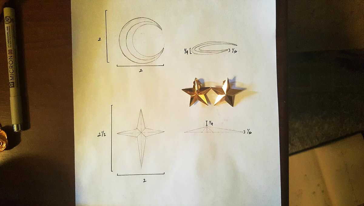 sketch for a 3d model star