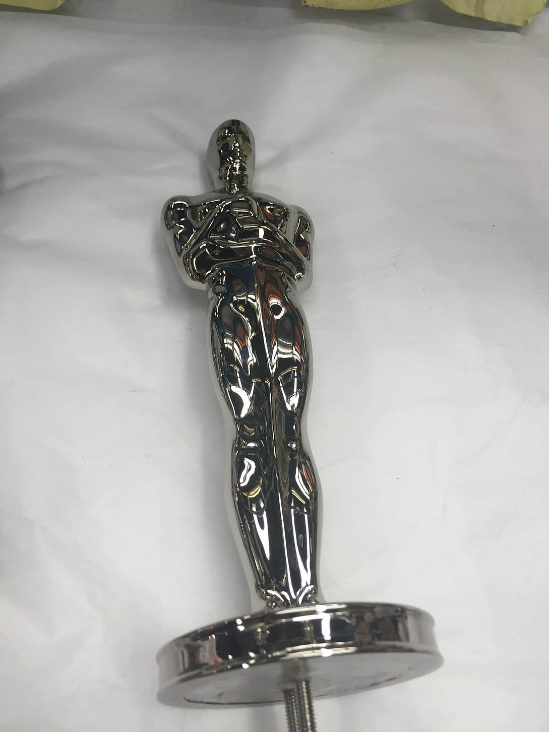 Metal plated oscar award nickel