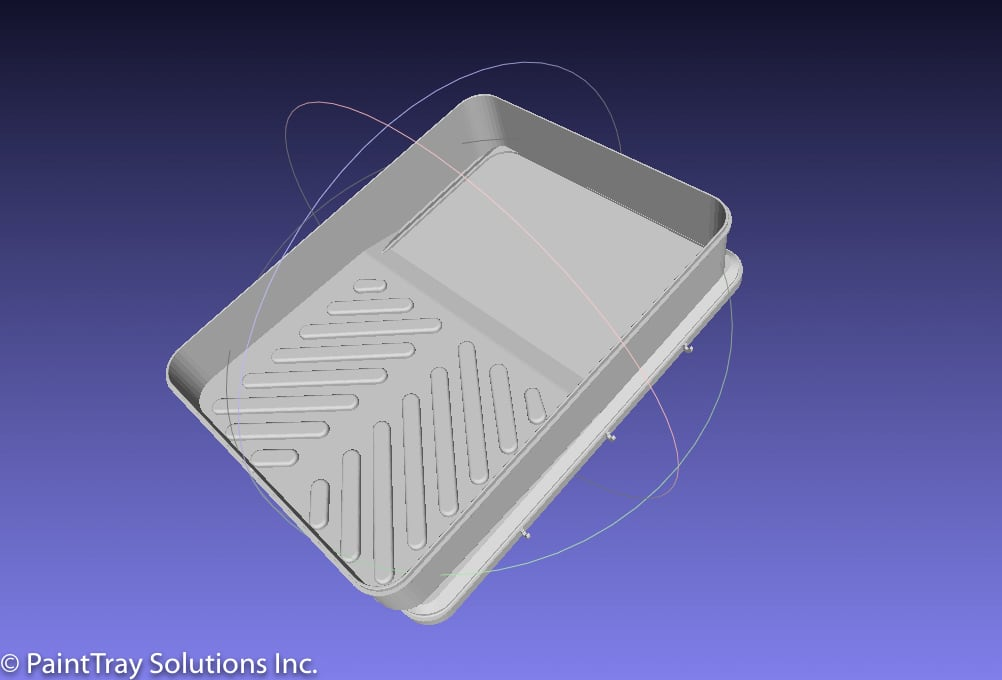 Painttray cad model
