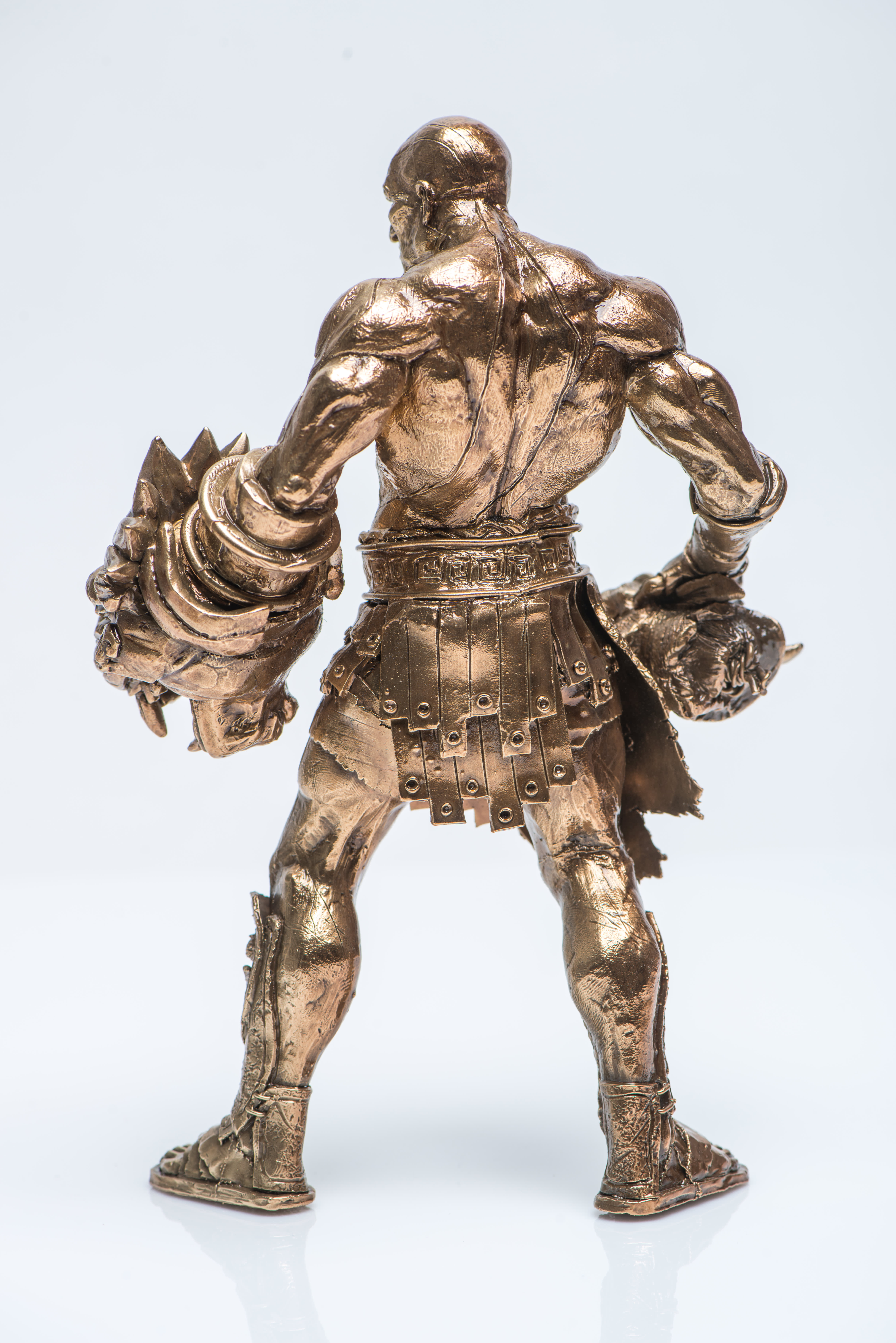 Metal Casted Character Back View