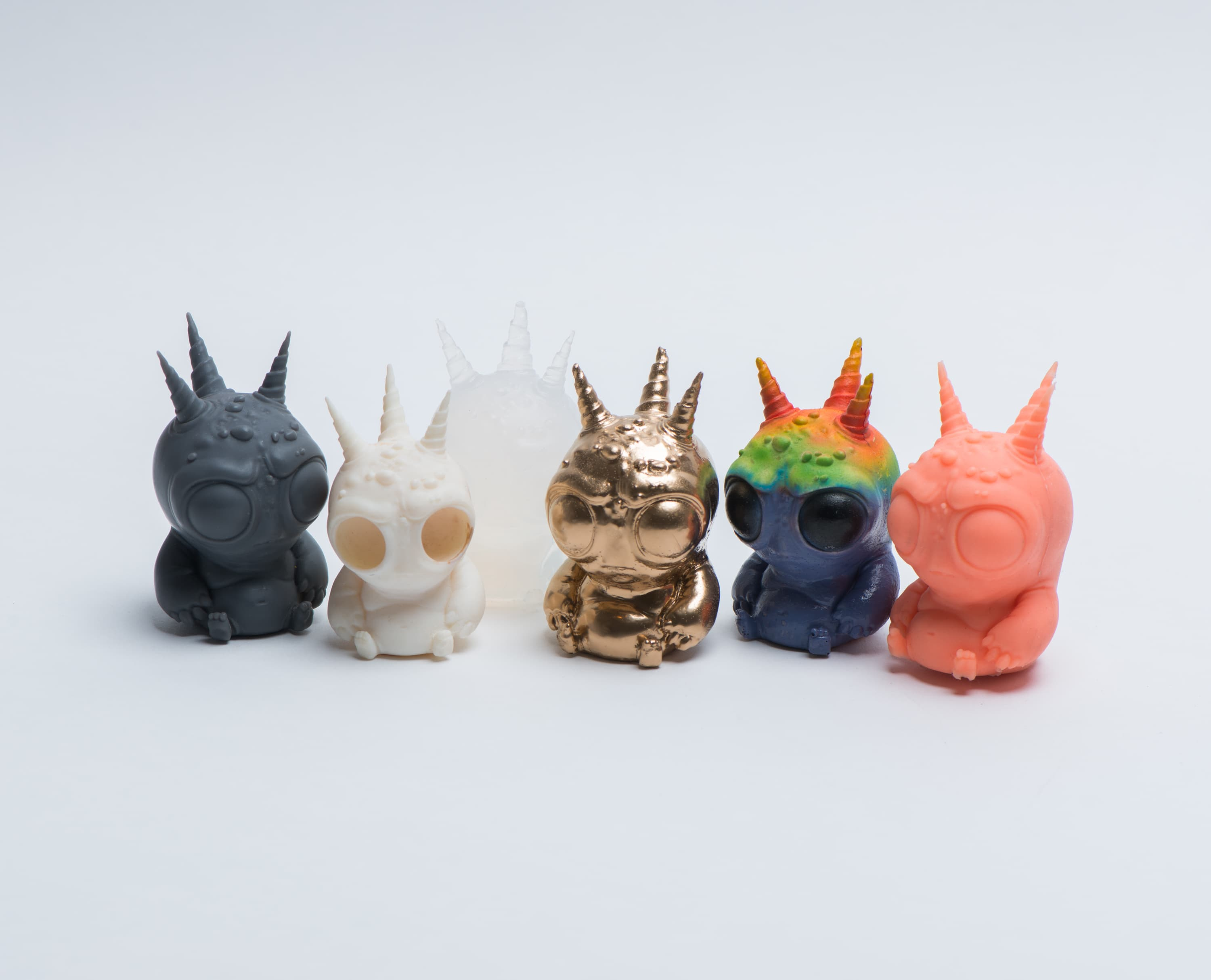Miniature monsters 3D printed and painted