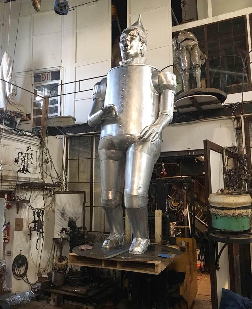metal plated tin man