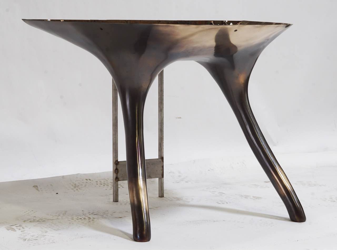metal plated chair