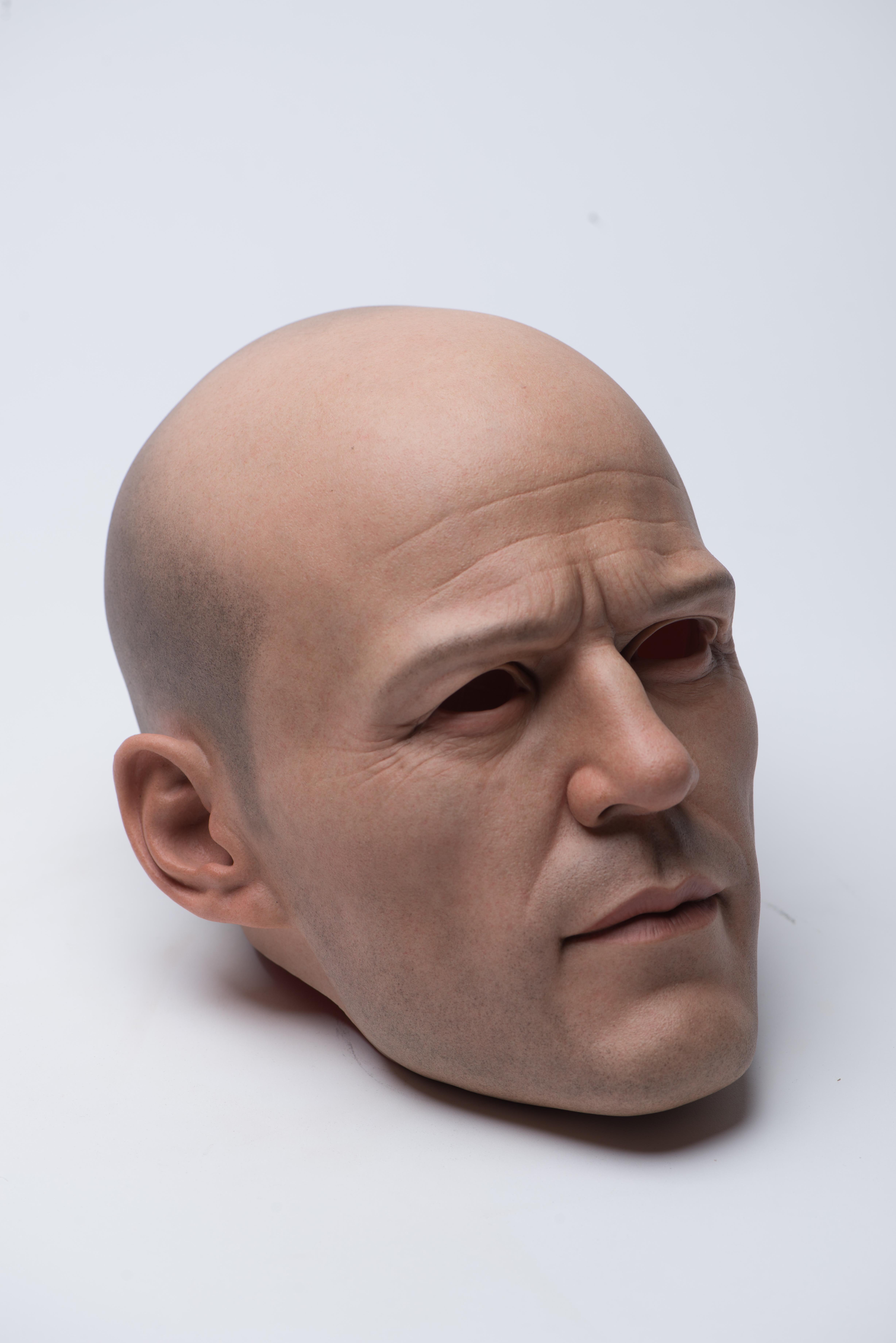 Jason Statham's sculptured head