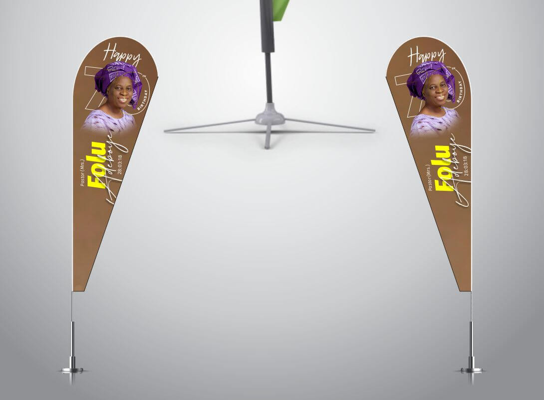 Teardrop Banners (3ft by 8ft)