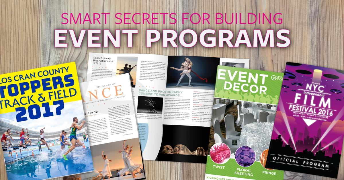 Smart Secrets For Building Event Programs!