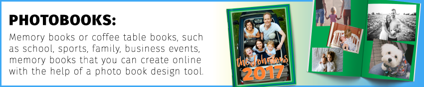 Photobooks are memory books or coffee table books that you can create online with the help of a photo book design tool.