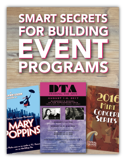 Cool Printed Programs For Arts Events