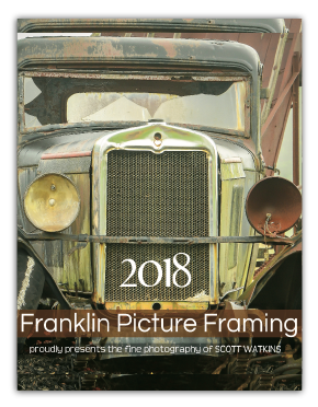 Franklin Framing Company Promotional Calendar Example