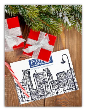 Cleaning Service Company Holiday Greeting Card Example