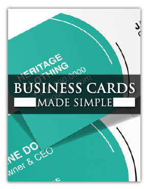 Simple Tips for Creating Printed Business Cards