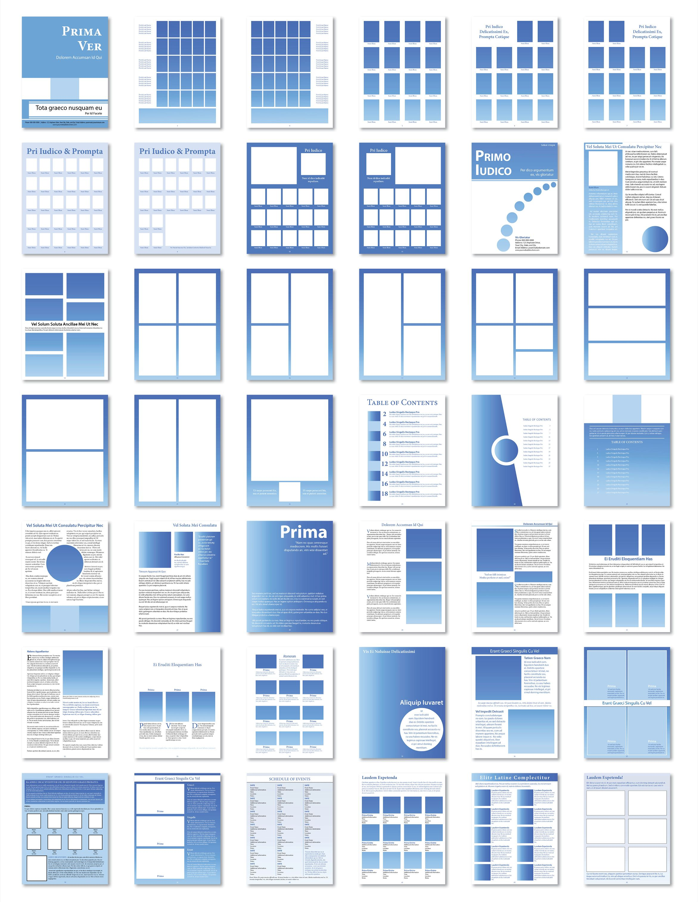 predesigned manual templates