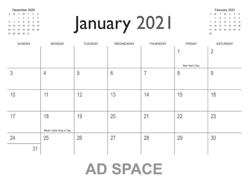 Free Indesign Calendar Template 2022.Calendar Templates Printingcenterusa