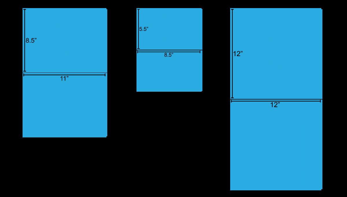 Calendar Sizes