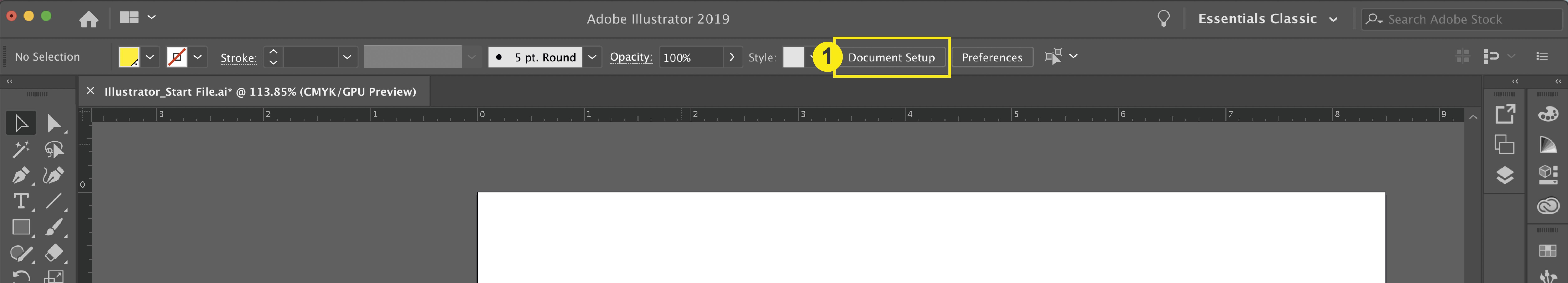 Illustrator_Document Setup