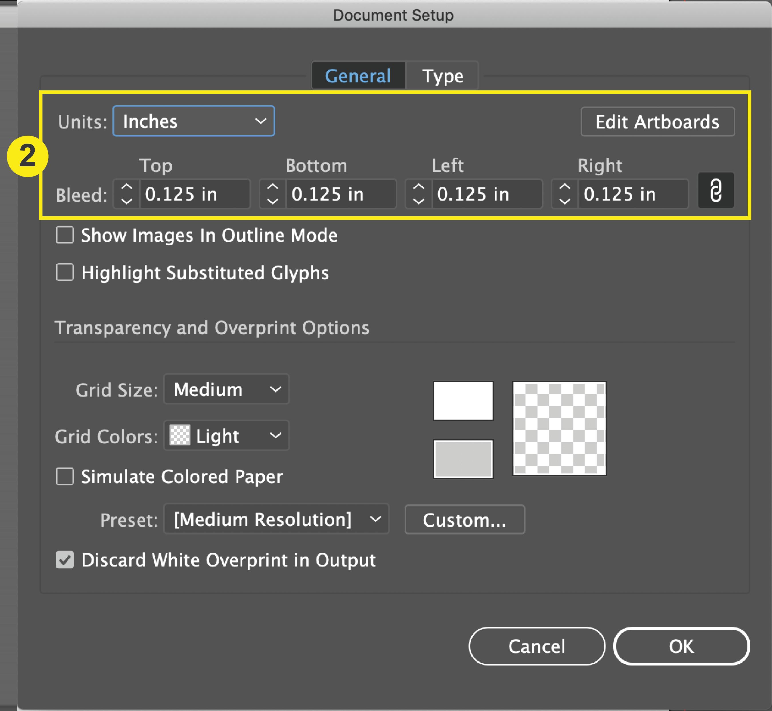 Illustrator_Document Setup Window