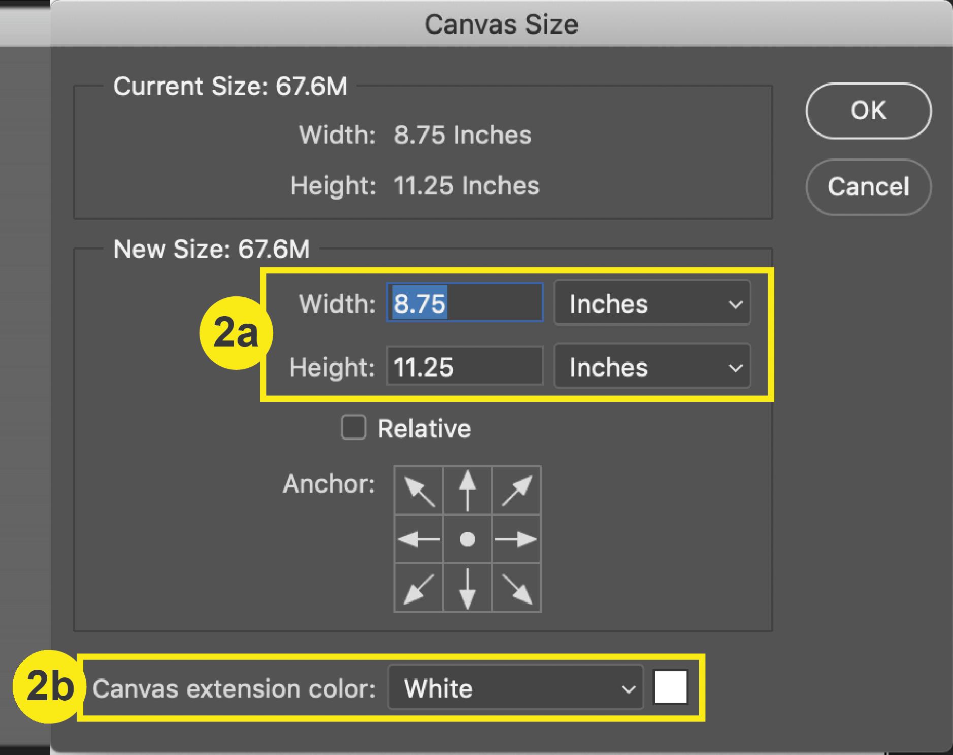 Photoshop_Canvas Size