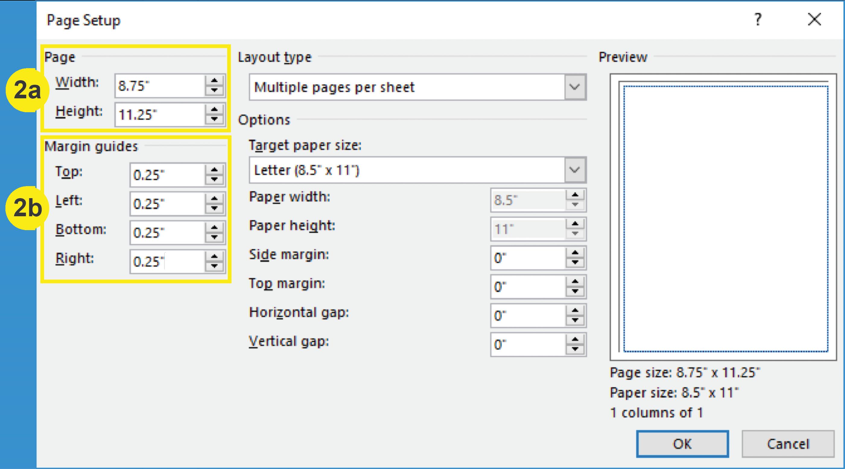 Publisher_Page Setup