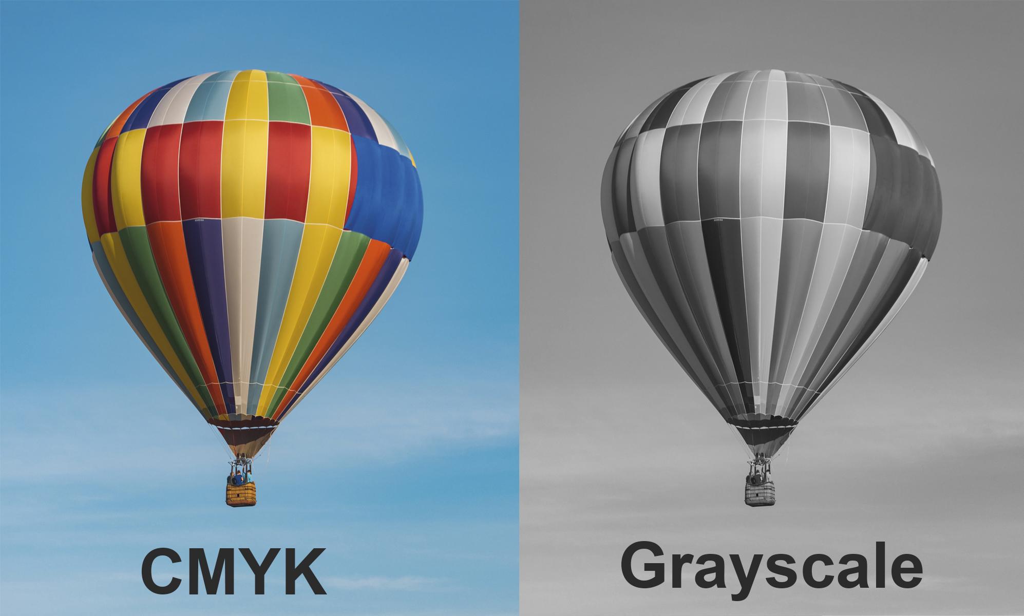 CMYK vs Grayscale