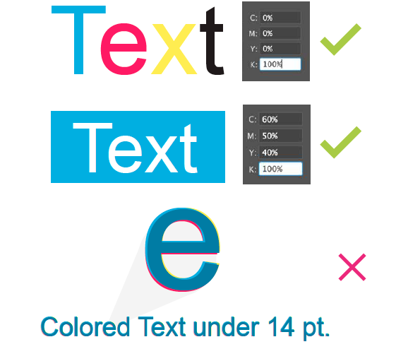 Colored Text builds for printing