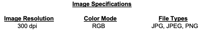 Image Specifications